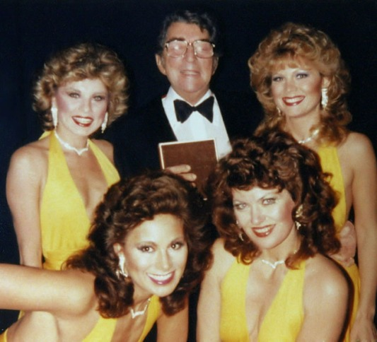 The-Golddiggers-giving-Dean-Martin-a-birthday-present
